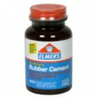 Elmers rubber cement no wrinkle - 3 ea