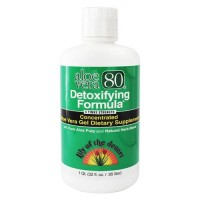 Lily of the desert aloe vera 80 concentrated aloe vera gel detoxifying formula  - 32 oz