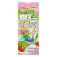 Lily of the desert mix n' go aloe powered drink, strawberry and kiwi - 5 ea, 10 pack