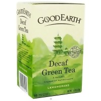 Good Earth decaffeinated green tea, Lemongrass - 18 tea bags