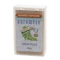 Auromere Ayurvedic Neem Tooth Picks - 100 ea