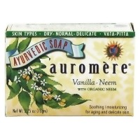 Auromere ayurvedic soothing and moisturizing bar soap, Vanilla Neem, 2.75 oz