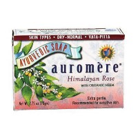 Auromere ayurvedic bar soap himalayan rose, 2.75 oz