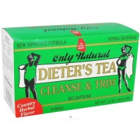Only natural dieter's tea cleanse and trim country herbal flavor - 24 tea bags