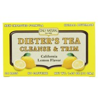 Only natural dieter's tea cleanse and trim california lemon flavor - 24 tea bags