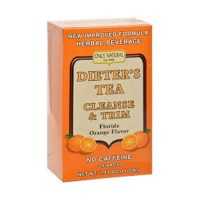 Only natural dieters tea cleanse and trim, orange flavor - 24 tea bags, 1.5 oz