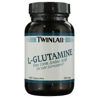 Twinlab L-Glutamine 500 mg Capsules, Dietary Supplement - 100 ea