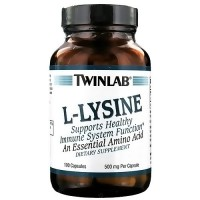 Twinlab L-Lysine 500 mg Capsules - 100 ea