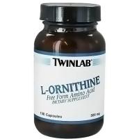 Twinlab L-Ornithine Free Form Amino Acid 500 mg Capsules - 100 ea
