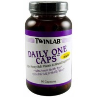 Twinlab daily two caps without iron capsules - 90 ea