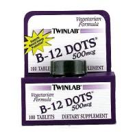 Twinlab B-12 dots 500mg vegetarian formula dietary supplement tablets - 100 ea