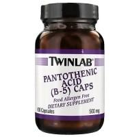 Twinlab B-5 Pantothenic Acid 500 mg Capsules - 100 ea