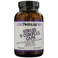 Twinlab Stress B-Complex Capsules with Vitamin C - 100 ea