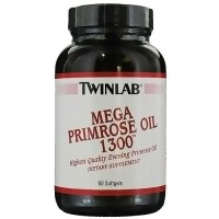 Twinlab mega primrose oil dietary supplement softgels 1300mg, 60 ea