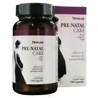 TwinLab Pre-Natal Care multi vitamin capsules for optimal health - 120 ea