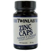 TwinLab Zinc Caps Natural 30 mg capsules - 100 ea