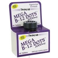 Twinlab Mega Vitamin B 12 Dots 5000 mg Tablets - 60 ea