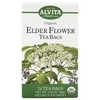 Alvita Organic Tea Bags, Elder Flower - 24 ea