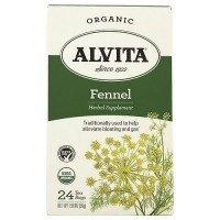 Alvita Teas Organic Caffeine Free Fennel Herbal Tea Bags - 24 Ea