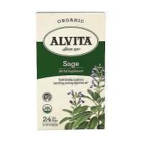 Alvita Teas Organic Caffeine Free Sage Tea Bags - 24 Ea
