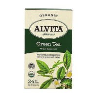 Alvita Organic Green Tea, herbal Supplement - 24 Tea Bags