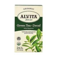 Alvita Organic Green Tea Decaf Herbal supplement - 24 Tea Bags