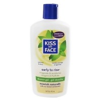 Kiss My Face early to rise bath and shower gel, wild mint and citrus - 16 oz