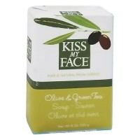 Kiss My Face Olive and Green tea soap bar - 8 oz