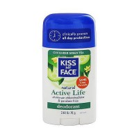 Kiss My Face Active Life Stick Deodorant, Cucumber Green Tea - 2.48 oz