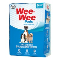 Four Paws - Container wee wee pads for puppies - 30 pk, 6 ea