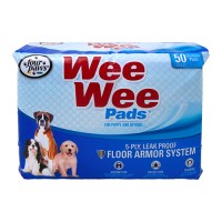 Four Paws - Container wee wee pads for puppies - 50 pk, 6 ea