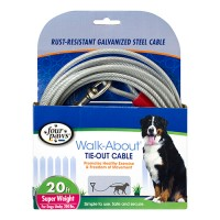 Four Paws - Container four paws dog tie out cable- super weight - 20 ft, 6 ea