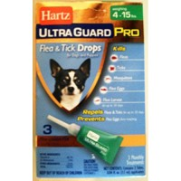 Hartz ultraguard pro flea and tick drops  - 4 ea