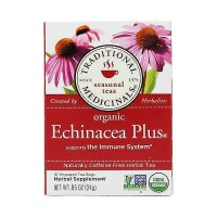 Traditional Medicinals Caffeine Free Herbal Tea Bags, Organic Echinacea Plus - 16 ea, 6 pack