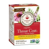 Traditional Medicinals Organic Throat Coat, Lemon Echinacea - 16 ea, 6 pack