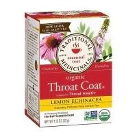 Traditional Medicinals Organic Throat Coat, Lemon Echinacea - 16 ea, 6 pack