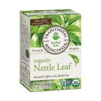 Traditional Medicinals Caffeine Free Organic Nettle Leaf Herbal Tea Bags - 16 ea, 6 pack