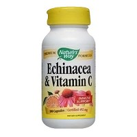 Natures Way Echinacea With Vitamin C Capsules - 100 ea
