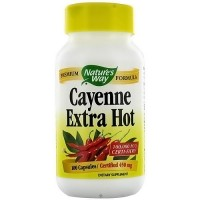Natures Way Cayenne Extra Hot 450 mg Capsules - 100 Ea