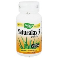 Natures Way Naturalax 3 With Aloe Vegetarian Capsules - 100 ea