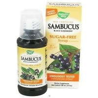 Natures Way Sambucus Sugar-Free Syrup, Black Elderberry - 4 oz