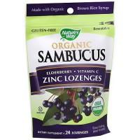 Naturesway Sambucus Organic Zinc Vitamin- C Lozenges - 24 ea