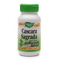 Natures Way Cascara Sagrada Bark Vegetarian Capsules - 100 Ea