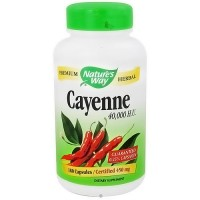 Cayenne Pepper 450 mg Capsules By Natures Way - 180 Ea