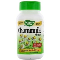 Natures Way Chamomile Flowers 350 mg Capsules For Digestive Relaxant - 100 Ea