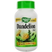 Natures Way Dandelion Root 540 mg Vegetarian Capsules  - 100 Ea