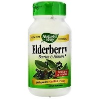 Natures Way Elderberry Berries And Flowers 575 mg Capsules - 100 ea