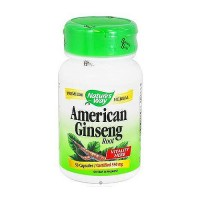 Natures Way American Ginseng 550 mg Capsules - 50 Ea