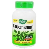 Natures Way Glucomannan Root Vegetarian Capsules - 100 ea