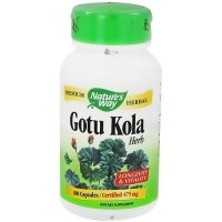 Natures Way Gotu Kola Herb 475 mg Capsules - 100 ea